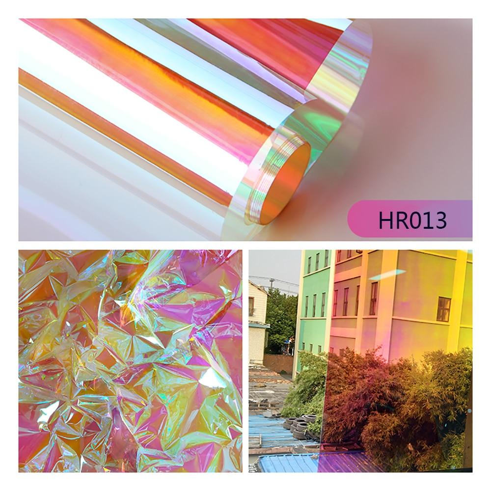 Tinte Iridiscente para Ventana Efecto arco/íris calcoman/ía autoadhesiva para el hogar HOHOFILM Pel/ícula para Ventana de Color camale/ón de 60 x 20 Pulgadas