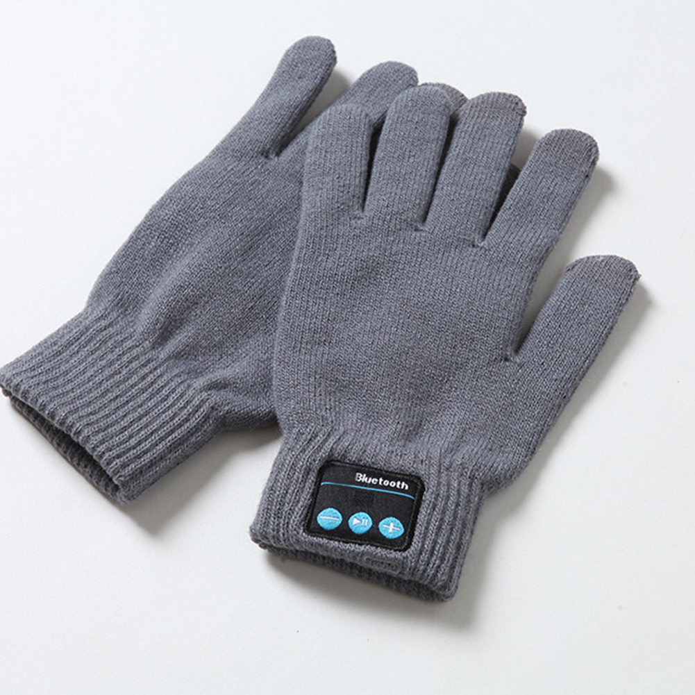 Bluetooth Gloves Warm Autumn Winter Useful Built-in Speaker/Microphone Gloves Outdoor Windproof Knit For Cellphone
