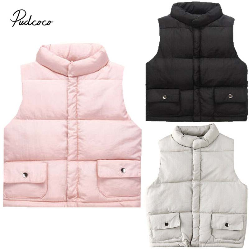 Toddler Kids Baby Girls Winter Warm Clothes Waistcoat Coat Outwear Jacket Tops