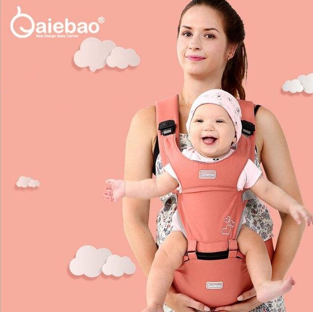 Aiebao portador de bebê infantil criança hipseat estilingue ergonômico frente frente frente frente canguru envoltório do bebê portador para o bebê viagem 0 36 meses