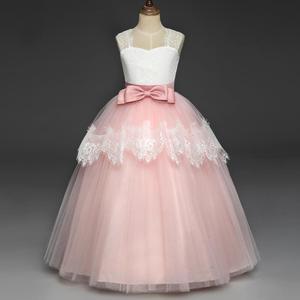 Image 3 - Свадебное кружевное платье в пол для девочек, элегантное платье подружки невесты для девочек, детское длинное платье принцессы, вечернее платье