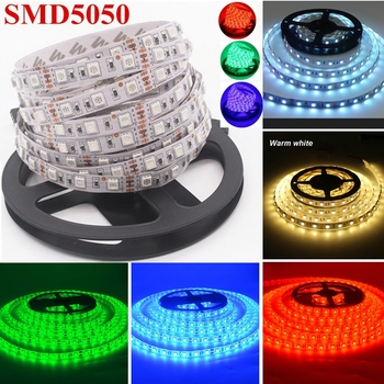 цена на DC 12V 5M SMD 300LEDS 5050 LED Strip Flexible Non- Waterproof Waterproof LED Strip  DC 12V SMD 5050 LED String Light D30