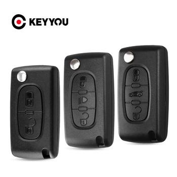 KEYYOU 3 2 przyciski składany zdalny składany kluczyk samochodowy Shell Case dla Peugeot 206 407 307 sw 607 dla Citroen C2 C3 C4 C5 C6 berlingo tanie i dobre opinie CN (pochodzenie) key for citroen key for peugeot ABS Plastic In China Filp Remote Car Key Shell For citroen c3 key For peugeot 407 key