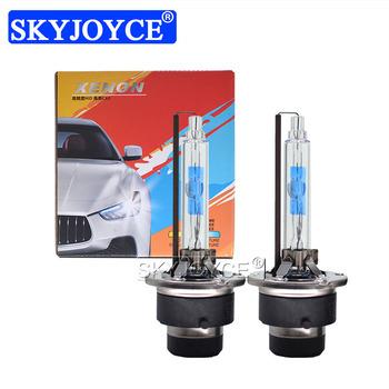 SKYJOYCE 2 sztuk D2S 5500K 35W ksenonowe żarówki HID szybko zapalające się UV bezpłatne 35W D4S ksenonowe lampy HID zamiennik dla D2 D4 zestaw reflektorów samochodowych tanie i dobre opinie 12 v CN (pochodzenie) 35W D2S D4S Xenon HID Bulb 35w d2s 5500k 35w d4s 5500k d4s xenon lamp d4s 5500k bulb d2s xenon