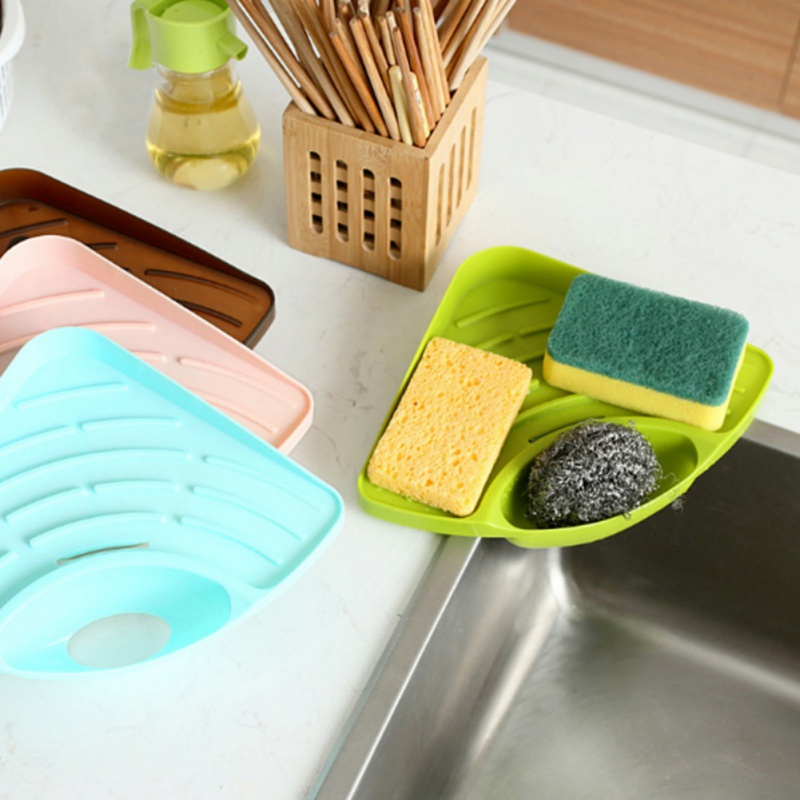 Kitchen Sponge Scratcher Cleaning Organizer Kitchen Sink Organizer Sink Caddy Sponge Sink Tray Soap Holder SinkNew Qgnv