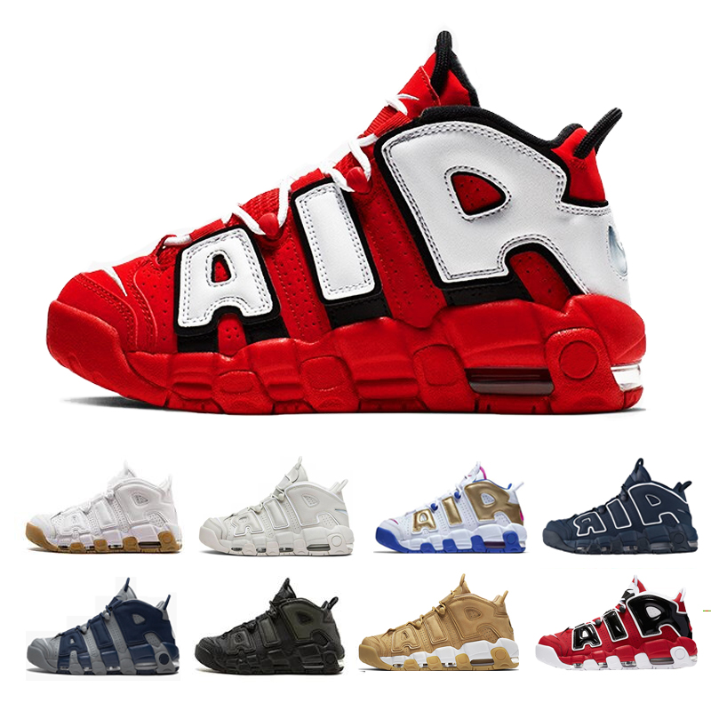 2020 Uptempo Mens Basketball Shoes For Women 96 QS Olympic Varsity Maroon 3M Scottie Pippen air Sports Sneakers Size 36-47