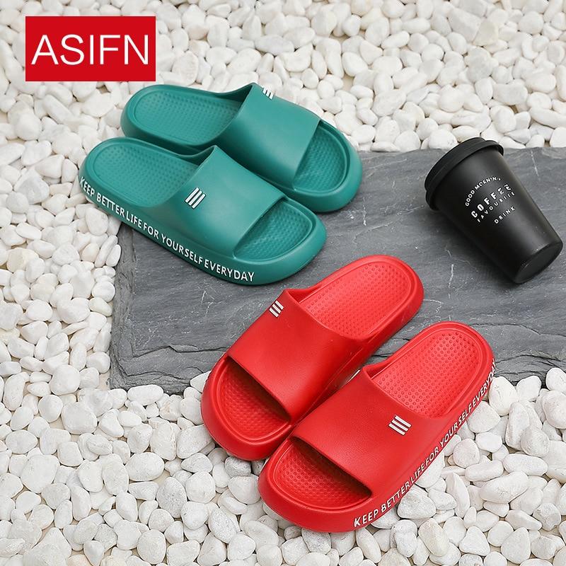 Женские домашние Банные Тапочки с мягкой подошвой; Нескользящие тапочки на толстой подошве для пар; Мужские пляжные вьетнамки; Мужская обувь|Тапочки|   | АлиЭкспресс