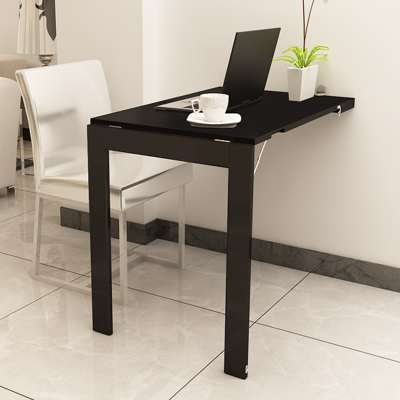 Simple Invisible Folding Table Multi-functional Mural Folding Table Small Family Simple 2 Family 4 Person Dining Table