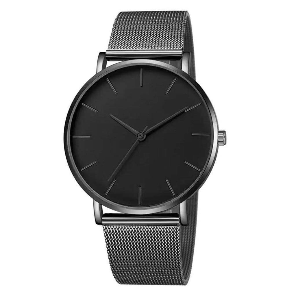 2019 New Arrival Man Watch Mesh Band Stainless Steel Analog Quartz Wristwatch Minimalist Business Luxury Watch Mannen Horloge