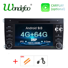 2-Din Car-Gps-Radio Porsche Cayenne Dvd-Player Navigation Ips-Screen Android 9.0