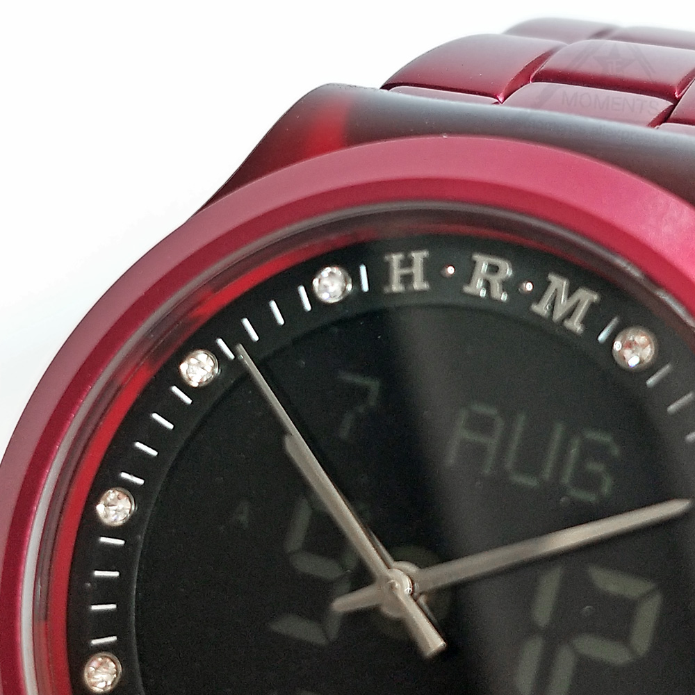 Prayer Watch For All Muslim with Prayer Alarm Auto Qibla DST Rhinestones Fajr Time WB-20 HA-6106 Red Color New Design