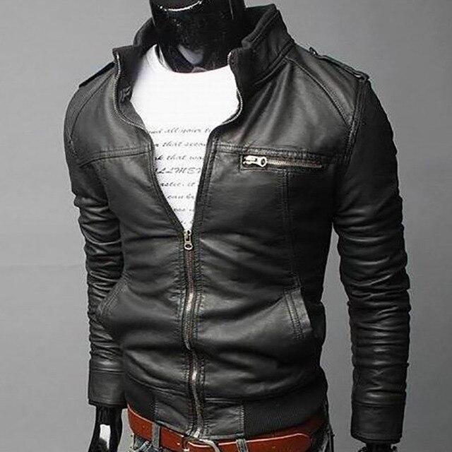 Men's Locomotive Coat  Jacket  Spring  Jacket Men 2020 Fashion  Leather Windbreaker Coats Motorcycle Leather 2