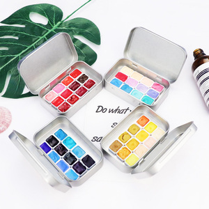 Handmade Artist Transparent Makaron Candy Color 1ml Watercolor Paint Set Portable Water Color For Painting Aquarell Art Supplies(China)