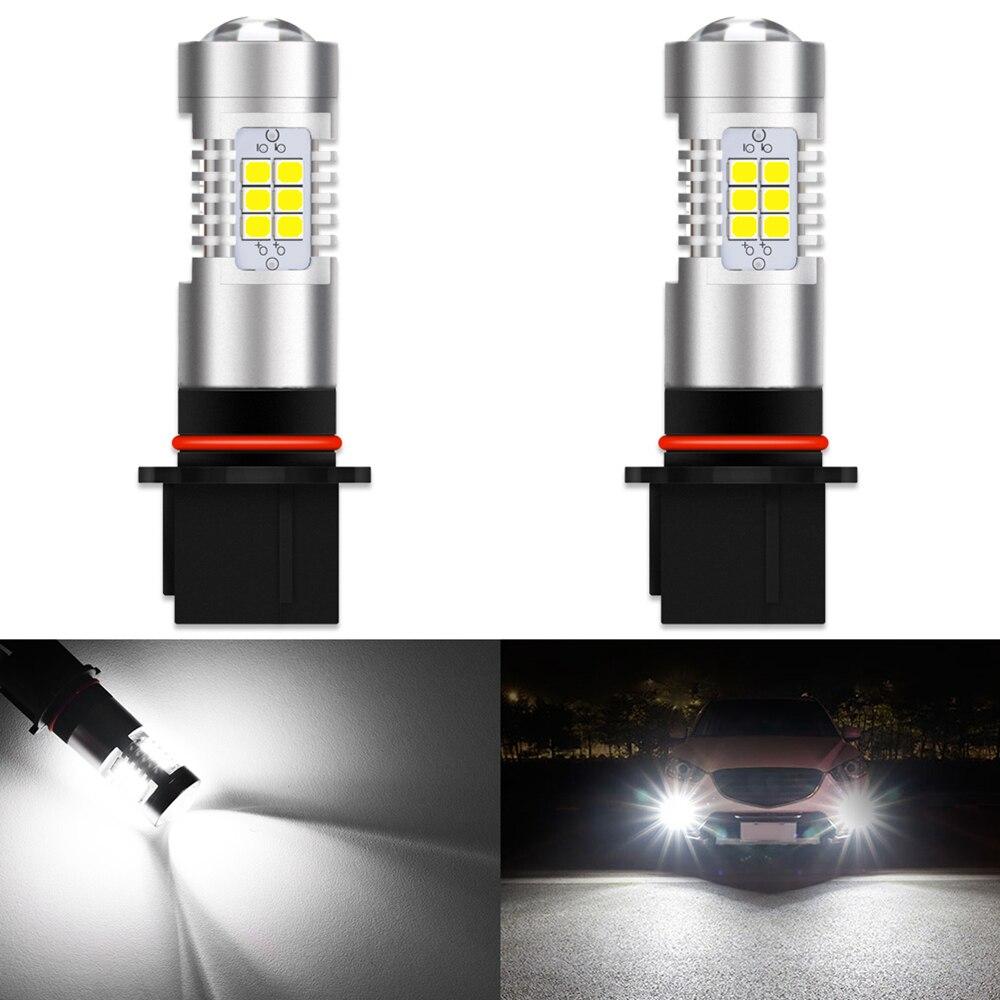 Светодиодные лампы Canbus P13W SH23W PSX26W для автомобиля, 2 шт., без ошибок, противотуманные фары s, противотумансветильник фары 6000k, белые, супер яркие...