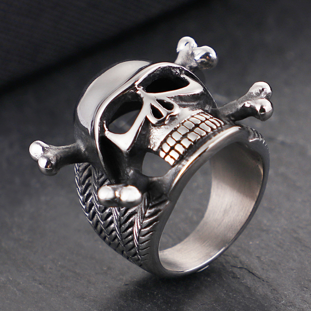STAINLESS STEEL SKULL SOLDIER RINGS