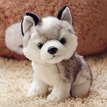 цена на 18cm 7 Plush Doll Soft Toy Husky Dog Baby Kids Cute Stuffed Toys Gift Kid birthday gift lovely doll dog pet doll