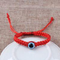 Handmade Lucky Kabbalah Red String Hamsa Bracelets Blue Evil Eye Amulet Jewelry