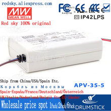 цена на [BSC0] Selling Hot! MEAN WELL original APV-35-5 5V 5A meanwell APV-35 5V 25W Single Output LED Switching Power Supply