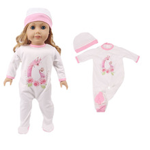 Free American doll clothes accessories set = onesies + hats for 18 inch accessories, generation, girl toy gifts