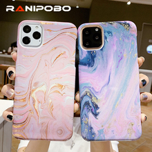 Painting Artistic Marble Texture Phone Case For iPh
