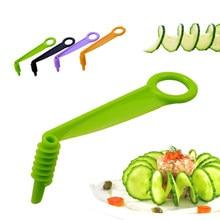 1pc espiral slicer lâmina cortador de mão cortador pepino cenoura batata legumes espiral faca cozinha ferramenta cor aleatória dropshipping