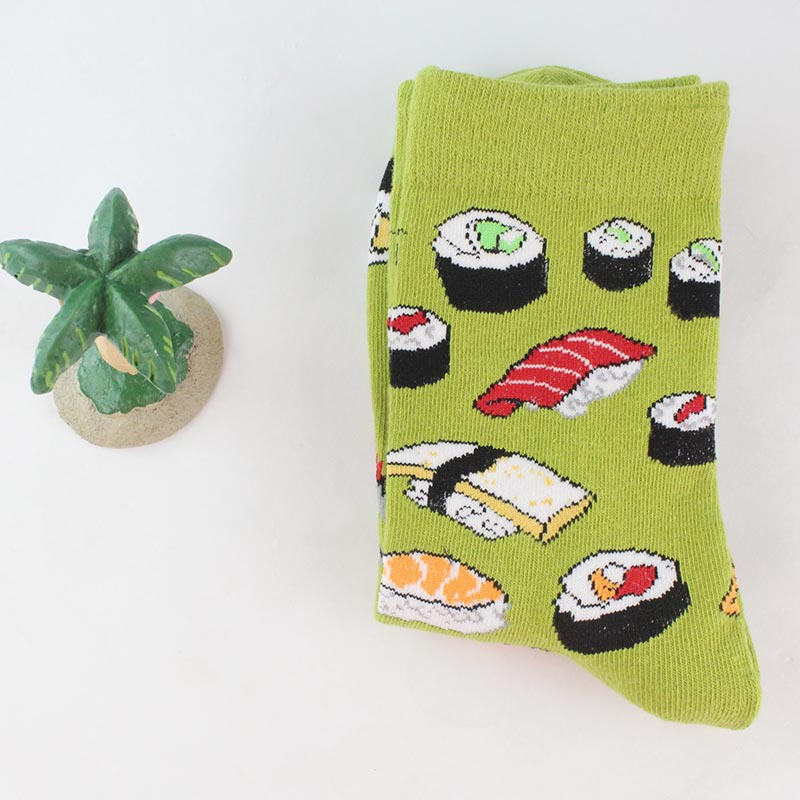 H0391e2dcd3ec49e99f2d8893f440f39fq - Women Happy Funny Socks With Print Art Cute Warm Winter Socks With Avocado Sushi Food Cotton Fashion Harajuku Unisex Sock 1 Pair
