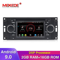 New arrival!Built in DSP android 9.0 car radio player for Chrysler 300C Dodge RAM Jeep Commander Compass Wrangler Grand Cherokee