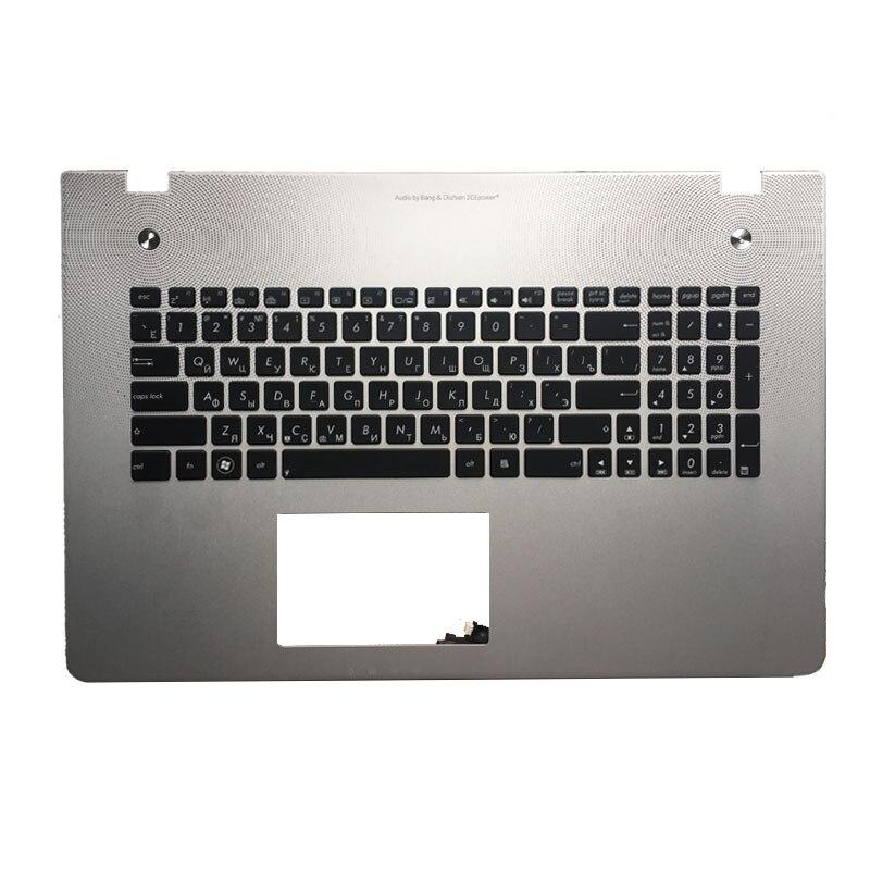 New Russian Keyboard For Asus N76 N76V N76S N76VM N76VB N76VJ N76VZ RU Laptop Keyboard With Backlit Palmrest Upper
