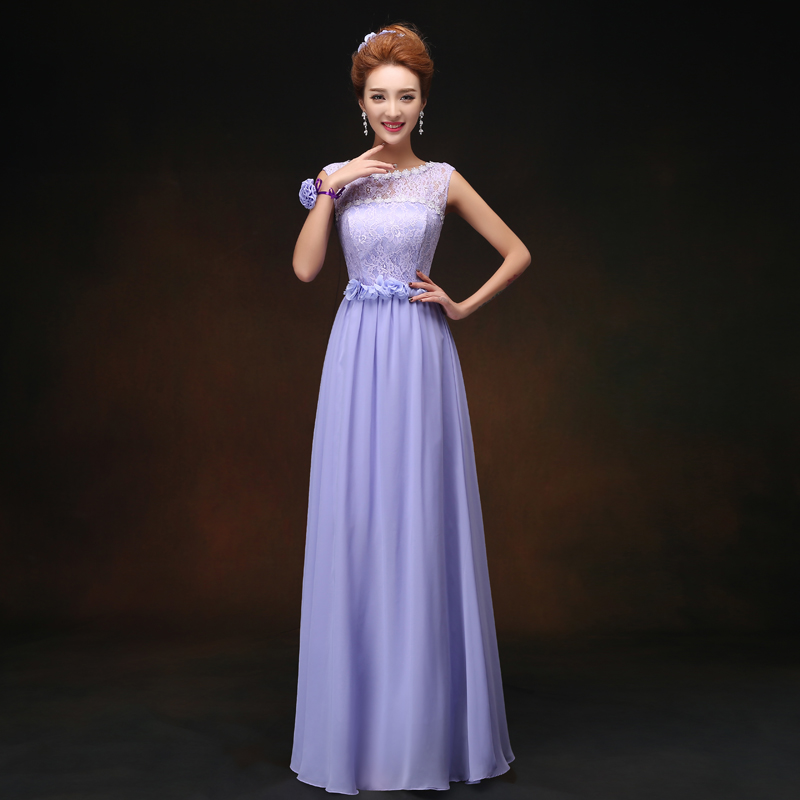 Junior Bridesmaid Dresses Violet Chiffon Plus Size Vestidos Mujer Elegant Women For Wedding Party Sleeveless Sexy Dress Prom