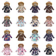 лучшая цена 2019 Baby Girls Jacket Autumn Winter Jackets For Girls Trench Coat Kids Outerwear Coats For Girls Windbreaker Children Clothes