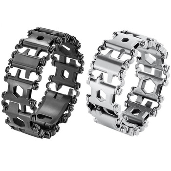 Tread Bracelet Stainless Steel Outdoor 29 in 1 Bolt Driver Kits Travel Spliced Wearing Bike Multifunctional Hand Tools - discount item  29% OFF Camping & Hiking