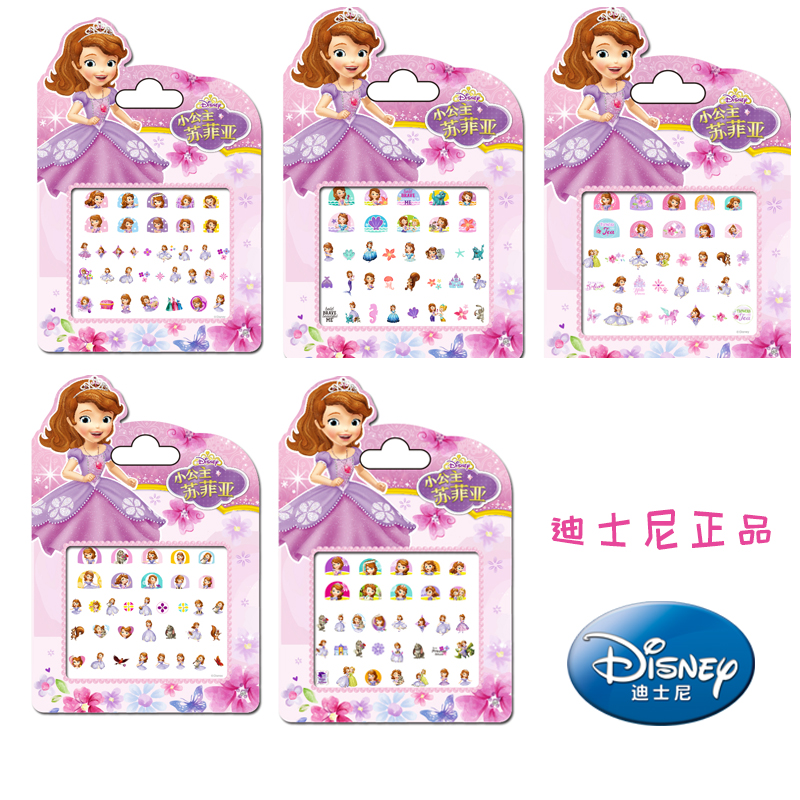 Genuine 5 Pcs Disney Sofia The First Princess Makeup Toy Nail Stickers Toy Disney Sofia Princess Girl Sticker Toys For Kids Gift
