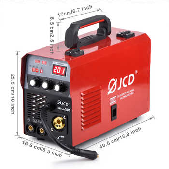 JCD 220V Mig Welder 200/160A IGBT Smart MMA Stick DC Inverter Arc Welder with Digital LCD Display for Beginner Welding Machine