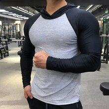 Gym Shirts Long-Sleeve Sports-Clothing Hooded-Rashgard Training Quick-Dry Breathable