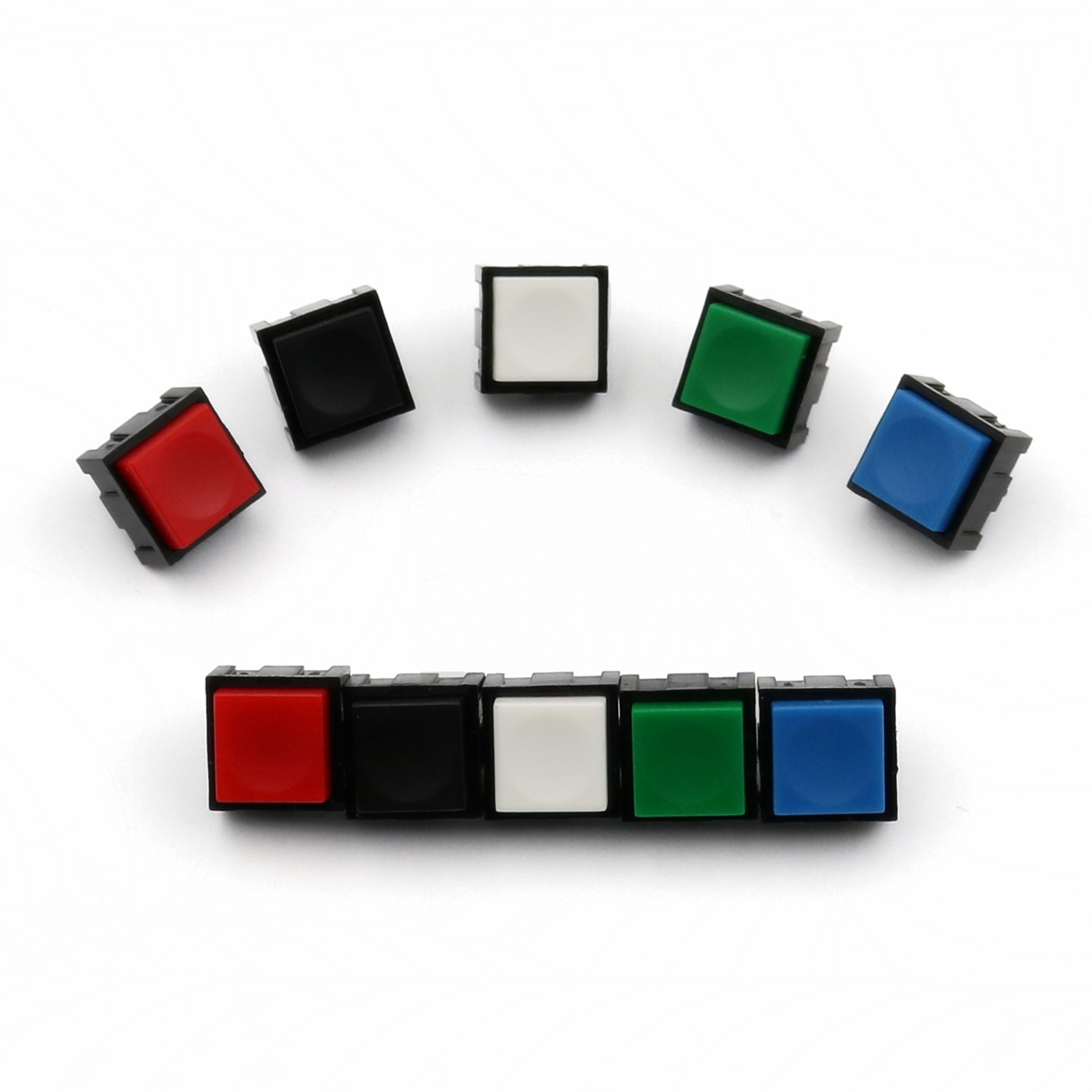 10Pcs PB13 Square 12*12mm Momentary 2Pin OFF-MOM SPST PCB Mini Push Button Click Switch