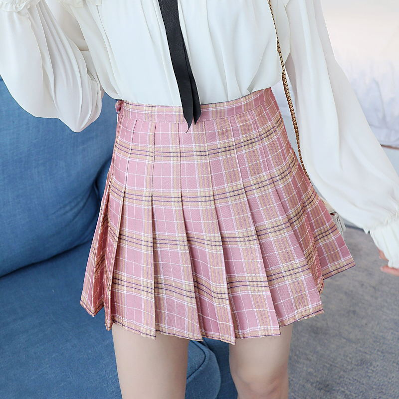 Plaid Skirts School-Uniforms Harajuku Preppy-Style Jupe Mini Ladies Japanese Students