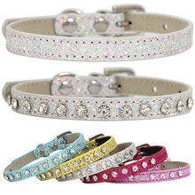Kitten-Accessories Strap Puppy-Collar Rhinestone Diamond Baby Dog Super-Shining Hot-Sale