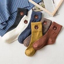 20 PCS/set Autumn Winter Cotton Socks Cute Cartoon Embroidery Female Breathable Women