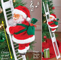 Рождественский Санта-Клаус, подъемная лестница, электрическая кукла Санта-Клауса, рождественская елка, подвесное украшение вечерние, детск...