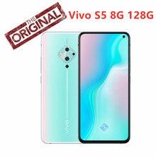 Nowy vivo S5 8GB 128G inteligentny telefon 6.44 Cal Snapdragon 712 Octa Core 48MP Quad tylne kamery 4100mAh 22.5W szybkie ładowanie telefon komórkowy
