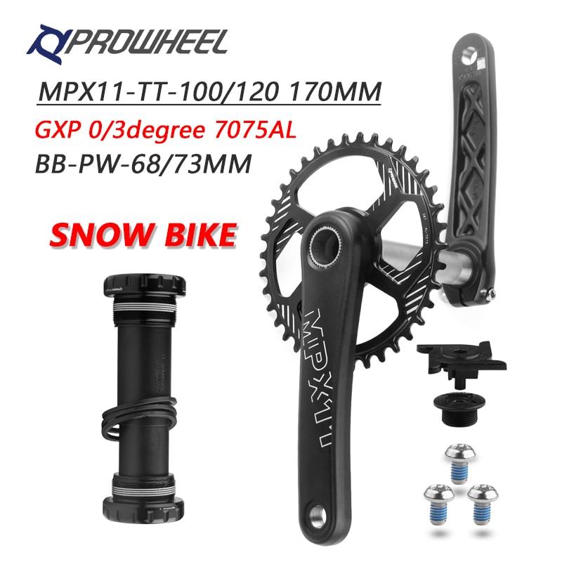 Prowheel Mountain Bike crank 30//32//34//36//38T Sprocket 104BCD MTB Crankset hs
