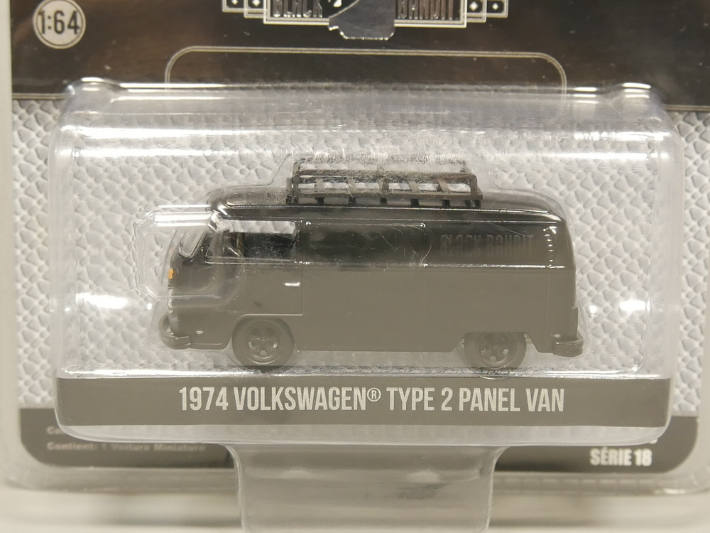 Greenlight 1:64 Black Bandit 1974 Volkswagen Type 2 Panel Van Diecast Model Car
