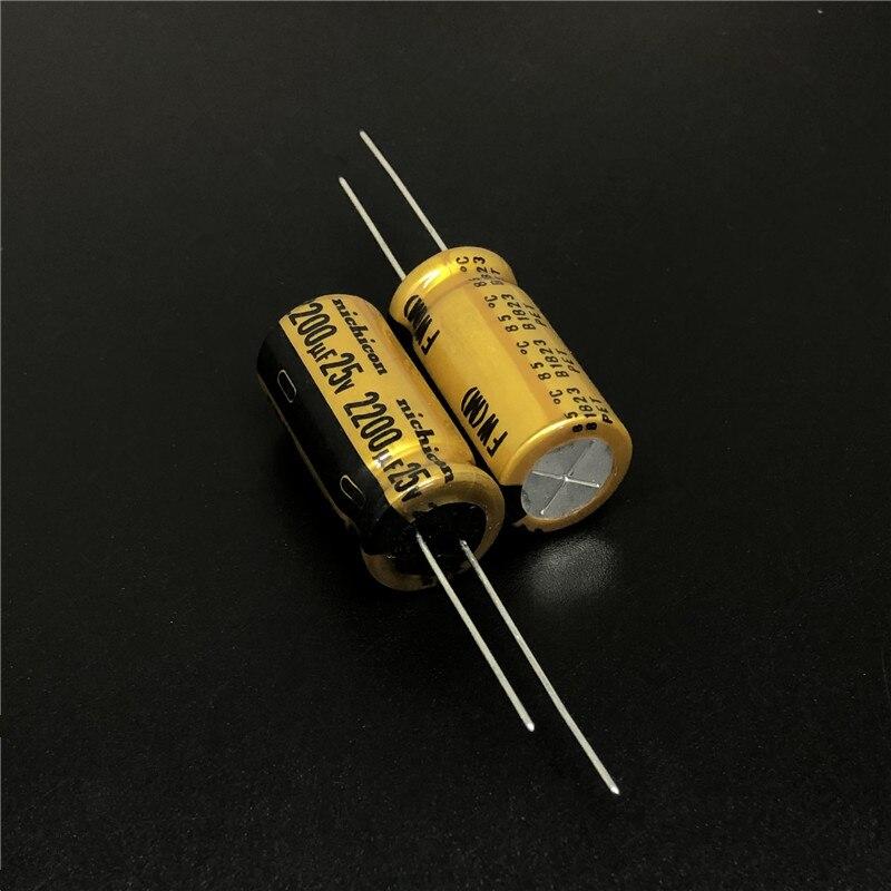 5pcs/20pcs 2200uF 25V NICHICON FW Series 12.5x25mm 25V2200uF HiFi Audio Capacitor