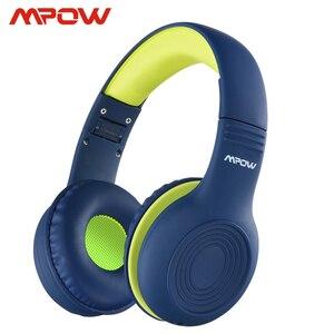 Image 1 - Mpow CH6 auriculares con cable para niños, Material de grado alimenticio, volumen limitado de 85dB, con puerto AUX de 3,5mm, para MP3, MP4, PC, ordenadores portátiles