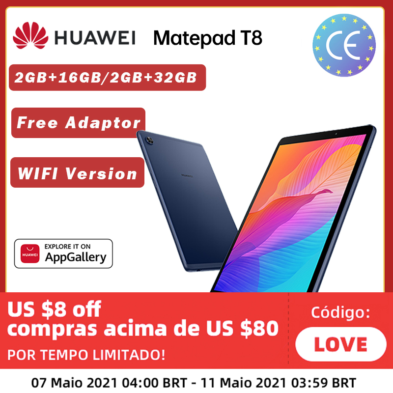 Globale Version HUAWEI MatePad T8 2GB 16GB/32GB WIFI Tablet PC 8,0 zoll faceunlock 5100mAh unterstützung microSD Karte Android10 T8
