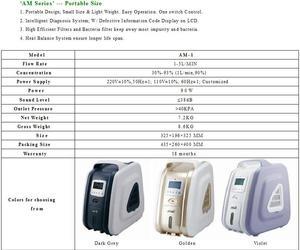 Image 5 - 9L רפואי בשימוש נייד חמצן מרוכז מחולל חמצן גדול יצוא 30% 93% חמצן טוהר חמצן טנק
