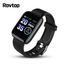 Rovtop relojes inteligentes, pulsera inteligente con control del ritmo cardíaco y de la presión sanguínea, Android y Iphone, 116 Plus