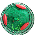 Лодка Рыболовная Ловушка рыболовные снасти клетка переносная рыболовная сеть литая сетка сложенная ловля три плавающих мяча