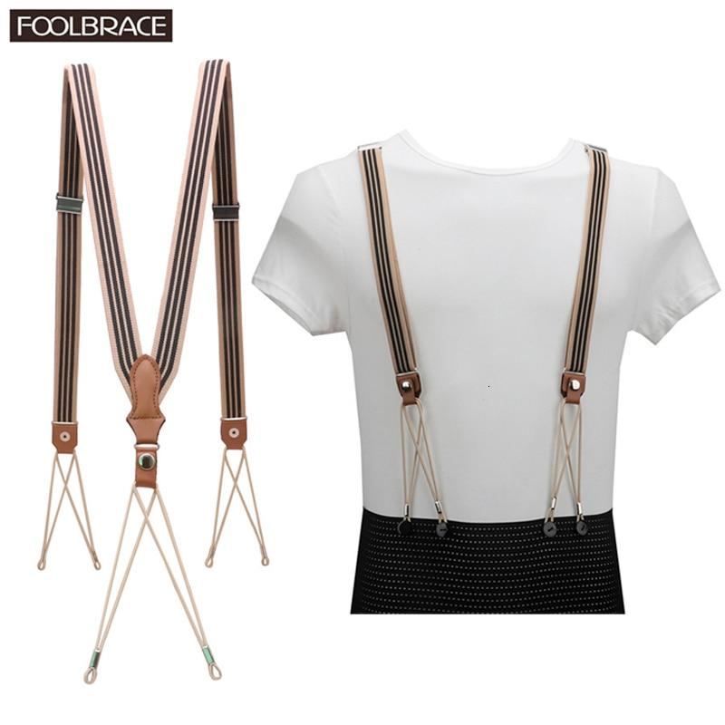 First Layer Cowhide Real Leather Suspender 6 Button String Holes Unisex Suspender Adjustable Brace Elastic Belt Strap Adult