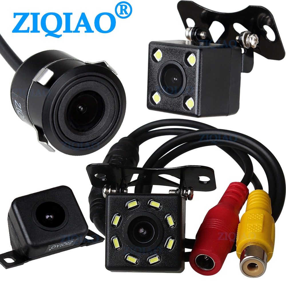 Car Rear View Camera Universal Backup Reverse Parking Camera 8 LED Night Vision Waterproof Wide Degree Reversing Cam ZIQIAO
